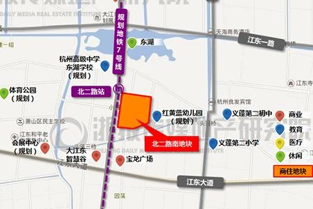 杭大江东储出[2017]4号核心区北二路南商住地,起价173934万,上限价295687.