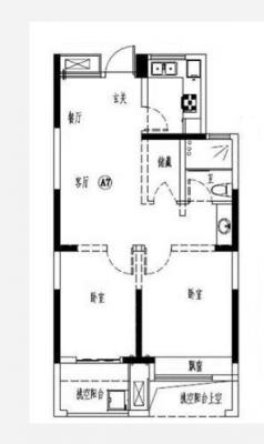 东裕华庭 5楼 76平 两室两厅 100万