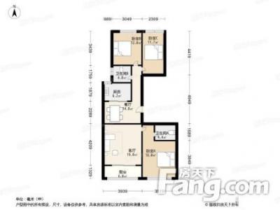 新世界琅琴湾 89平方 3室 商品房 普通装修 朝南 普通住宅 平层