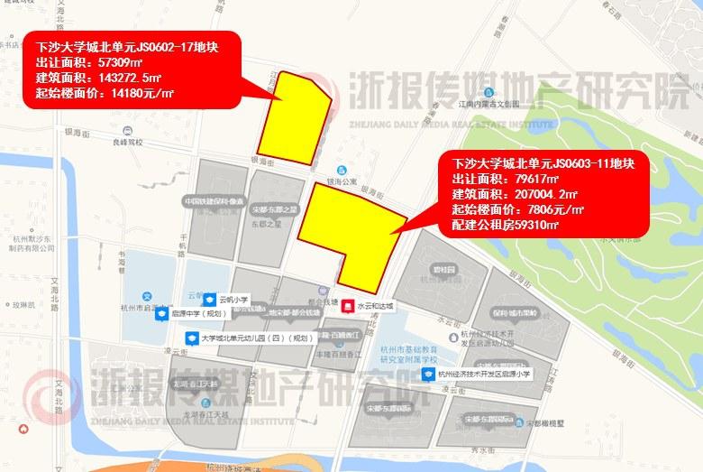 土地市场复工!钱塘新区大学城北2宗宅地3.12日开抢!