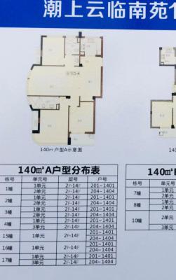 潮上云临南苑 140平方 3室 商品房 毛坯 南北通透 整租 平层