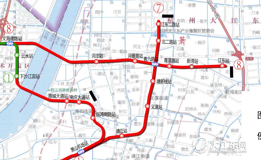 ▲大江东地铁规划示意图 仅供参考(站点有微调,以实际建设为准)-