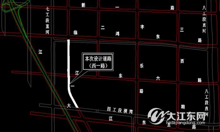 3769.56万元,全长约1.1km,设计车速50km/h,大江东要新建一条路!