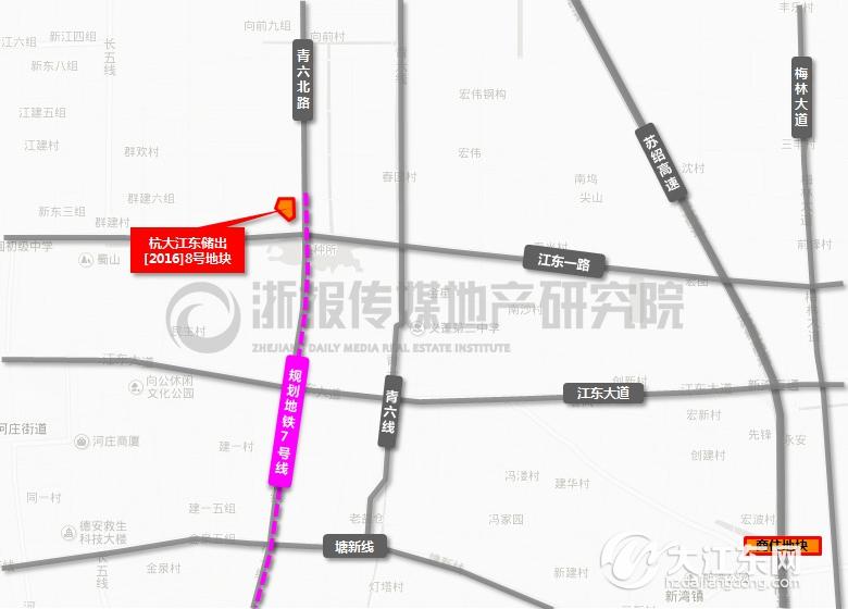 大江东地铁7 8号线周边楼盘一览,购房投资看牢了