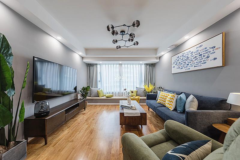 安守清寂,不染风尘----蓝孔雀107方北欧风格舒适居家
