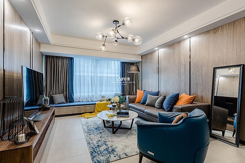 自在有为,大隐于市----蓝孔雀107方现代简约舒适居家