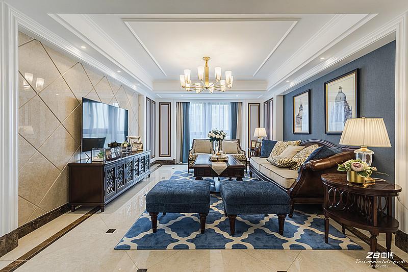 阳光国际180方现代美式风格舒适居家